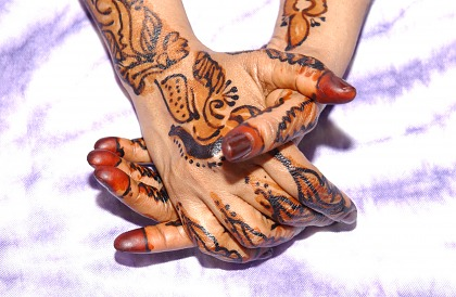 Image of hands with henna